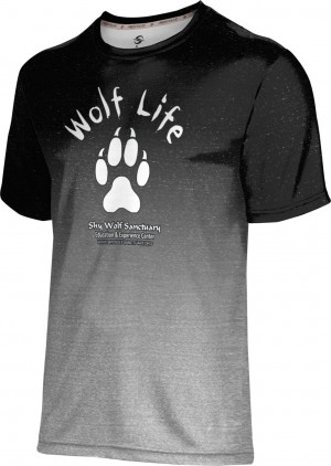 ProSphere Men's SHY WOLF FAN SHOP Ombre Shirt